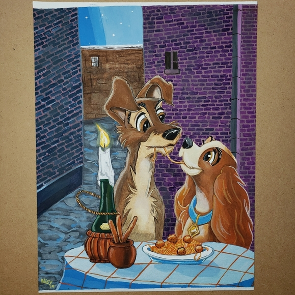 Wall Art Lady The Tramp Painting Poshmark